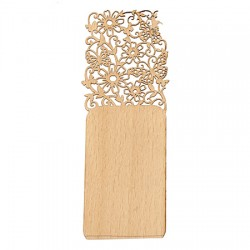 Дървен книгоразделител - 15x5 см - винтидж пеперуда