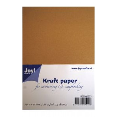 Крафт хартия - Kraft paper - Joy Crafts - 29,7х21см, 25 листа, 300гр.