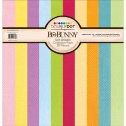 "Дизайнерски хартии 12"" х 12"" - Bo Bunny - Double Dot-Soft Shades Collection Pack"
