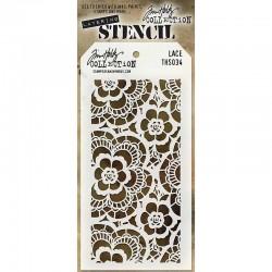 Шаблон за декупаж / стенсил дантела - Tim Holtz - Tim Holtz Stencils Lace