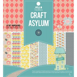 "Дизайнерско блокче 6"" х 6"" 24 листа - Craft asylum - Hello Sunshine - Double Sided 6x6 inch Sheets 24pcs"