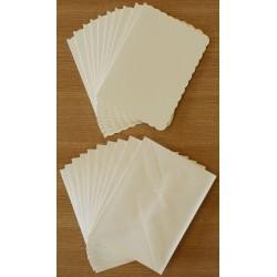 Комплект от 5бр. основи за картички с пликове - 12.5 х 17.5см, 3бр. злато и 2бр. сребро