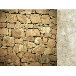 "Двустранен дизайнерски картон 12"" х 12"" - 150гр. - Kaiser craft - 12x12 Scrapbook Paper Rock single sheet"