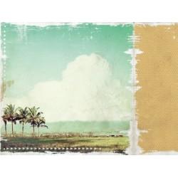 "Двустранен дизайнерски картон 12"" х 12"" - 150гр. - Kaiser craft - 12x12 Scrapbook Paper Tropical Bliss"
