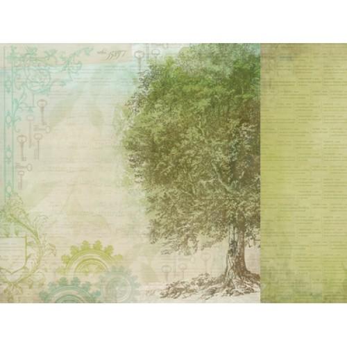 "Двустранен дизайнерски картон 12"" х 12"" - 150гр. - Kaiser craft - 12x12 Scrapbook Paper Generation single sheet"