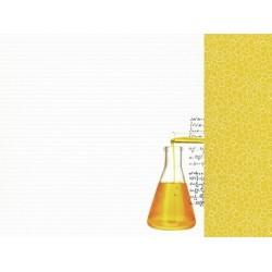 "Двустранен дизайнерски картон 12"" х 12"" - 150гр. - Kaiser craft - 2 Cool 4 School - Science single sheet"