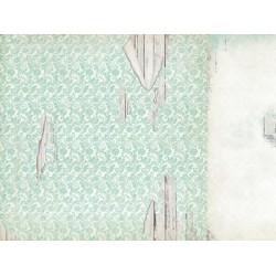 "Двустранен дизайнерски картон 12"" х 12"" - 150гр. - Kaiser craft - Blue Bay - Placid single sheet"