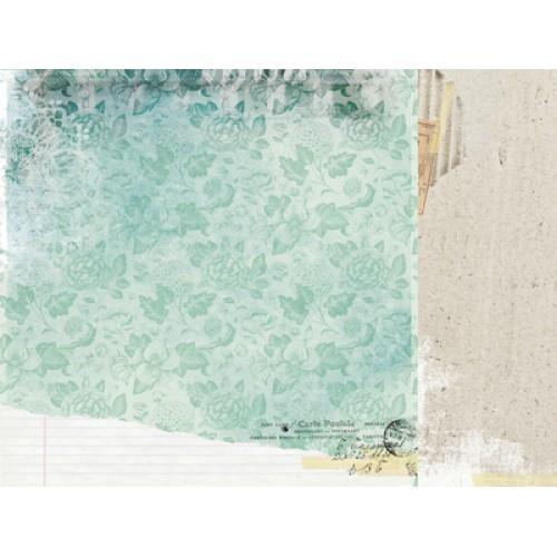 "Двустранен дизайнерски картон 12"" х 12"" - 150гр. - Kaiser craft - 12x12 Scrapbook Paper - Girly single sheet"