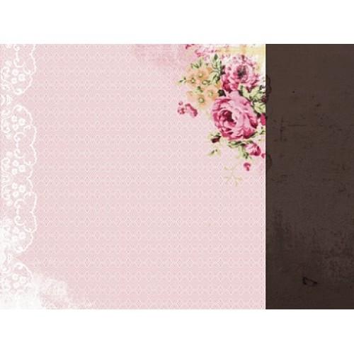 "Двустранен дизайнерски картон 12"" х 12"" - 150гр. - Kaiser craft - 12x12 Scrapbook Paper - Chic single sheet"