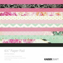 "Дизайнерско блокче 6.5"" х 6.5"" - Kaiser craft - All That Glitters 6.5"