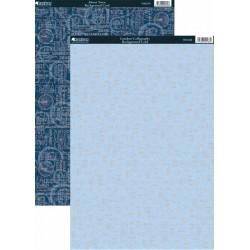 Комплект от 2 бр. дизайнерски картони A4 - Kanban - 2 Sheet Pack Of Foiled Background Card
