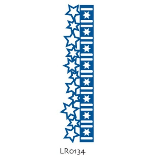 Универсален шаблон бордюр от Коледни звезди - Marianne Designs - Creatables-Christmas stars