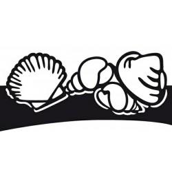 Универсална щанца за изрязване и релеф бордюр от миди и рапани - Marianne Designs - Craftables - Tinys folding dies-shells