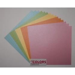 "Комплект от 18бр. картони 12"" х 12"" - 12x12 inch Pastel Cardstock Bundle 18pcs - 216гр."