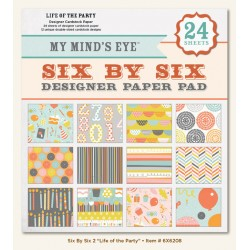 "Дизайнерско блокче 6"" х 6"" - My Mind's Eye - Paper Pads 6x6 - Life of the Party - 24 листа"