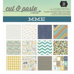 "Дизайнерско блокче 6"" х 6"" - My Mind's Eye - Cut and Paste - Charm 6x6 Paper Pad"