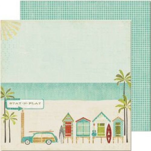 "Двустранен дизайнерски картон 12"" х 12"" - My Mind's Eye - Good Day Sunshine - Boardwalk Paper"