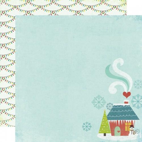 "Двустранен дизайнерски картон 12"" х 12"" - My Minds Eye  - Winter Wonderland - At Home Paper"