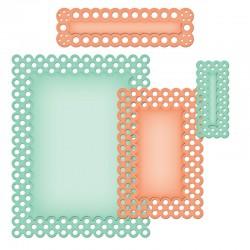 Шаблони за рязане и релеф етикет/ таг/ надпис - Spellbinders - A2 Polka Dots