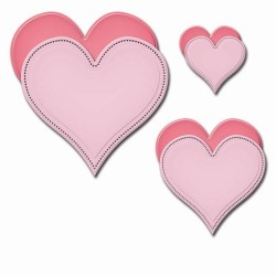 Шаблон за рязане и релеф сърце - Spellbinders - Pierced Hearts