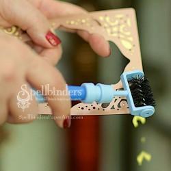 Инструмент за почистване на тънки метални щанци, шпатула и шило - Spellbinders Tool n One