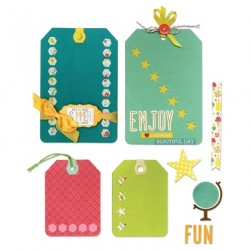 Шаблони за рязане и релеф тагове - Sizzix - Thinlits Set 12PK Happy Day