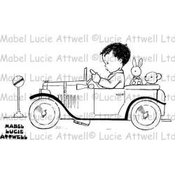 Силиконов печат момченче с кола - Jolly Day Out
