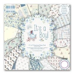 "Дизайнерско блокче за момче 6"" х 6"" - First Edition 6x6 Pad - Its a Boy"