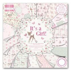 """Дизайнерско блокче за момиче 6"""" х 6"""" - First Edition 6x6 Pad - Its a Girl"""