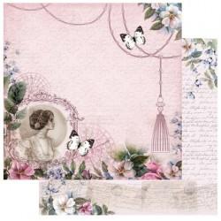 """Комплект от 5бр. двустранни дизайнерски листи 12"""" х 12"""" - 12 x 12"""" Elegant Lady Paper"""