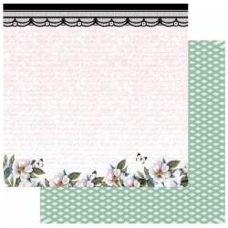 """Комплект от 5бр. двустранни дизайнерски листи 12"""" х 12"""" - 12 x 12"""" Butterflies and Lace"""