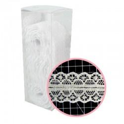 Декоративна бяла дантела - 10 ярда - Magnolia Lane White