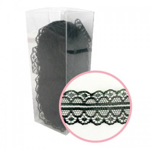 Декоративна черна дантела - 10 ярда - Magnolia Lane Black Decorative - 3см