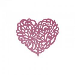 Шаблон за изрязван и релеф декоративно сърце - Ultimate crafts - Impression Die - Magnolia Heart