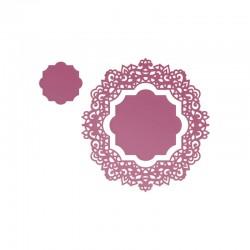 Шаблон за изрязван и релеф салфетка - Ultimate crafts - Impression Die - Magnolia Doily