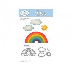 Тънки метални шаблони облаци и дъга - Rainbow Sky Cutting Die