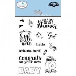 Силиконов печат бебешки надписи - Baby Clear Stamp