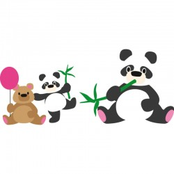 Универсална щанца мече / панда - Elines Panda and Bear