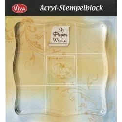 Акрилно блокче с удобен захват - 10 х 10см -  Viva Decor - Acrylic block (10x10cm)