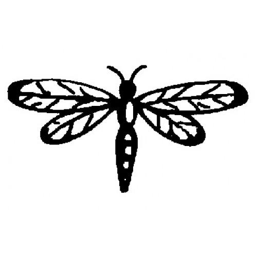 Гумен печат на дървено блокче водно конче - Art Stamps - Dragonfly