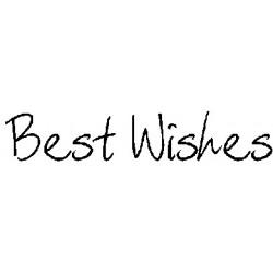 """Гумен печат на дървено блокче """"с най-добри пожелания"""" -  Art stamps - Scribbled Best Wishes"""
