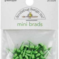 Брадс - свежо зелено - Doodlebug Design - Grasshopper Mini Brads - 0.3см - 25бр.