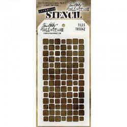 Шаблон за Mix Media - Tim Holtz - Stencils Tiles