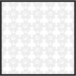 "Текстурен паус с декоративни елементи цветя  12""х 12"" - Bazzill Basics Paper - Textured vellum Flower Garden"
