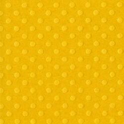 """Релефен дизайнерски картон на точки - наситено жълто - 12"""" х 12""""  -  Bazzill basics paper - Swiss Honey - 180гр."""
