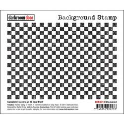 Гумен фонов печат - Darkroom Door - Background Stamp Checkered