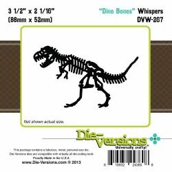Щанца за изрязване и релеф скелет на динозавър - Die-Versions - Whispers - Dino Bones