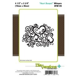 Щанца за изрязване и релеф сърца - Die-Versions - Whispers - Heart Bouquet