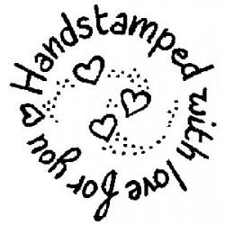 Гумен печат на дървено блокче -  Art stamps - Handstamped Circle
