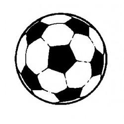 Гумен печат на дървено блокче футболна топка -  Art stamps - Football